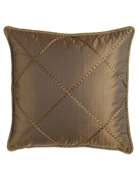 Dian Austin Couture Home European Regency Gimp-Lattice Sham