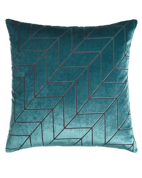 D.V. Kap Home Modern Twist Blue Pillow