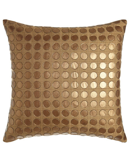 D.V. Kap Home Modern Twist Gold Pillow