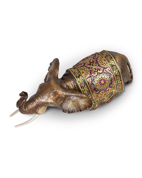 Tapestry Large Elephant Figurine