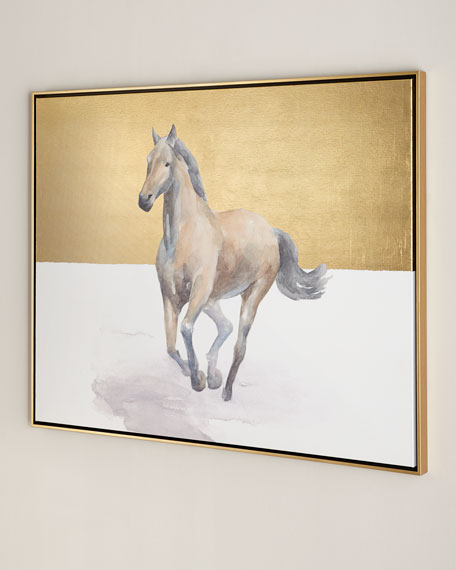 """Golden Dame"" Horse Giclee on Canvas Wall Art"