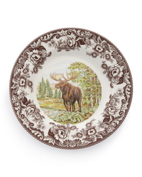 Woodland Moose Dinner Plates, Set of 4