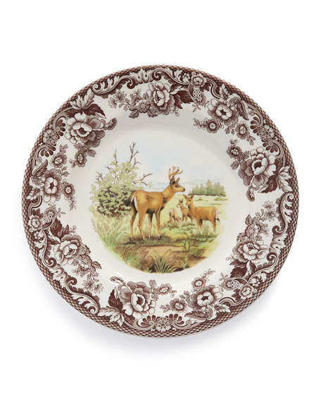 Woodland Deer Dinner Plates Set of 4  sc 1 st  Neiman Marcus & Spode Woodland Rabbit Fox Moose u0026 Deer Dinnerware u0026 Matching ...