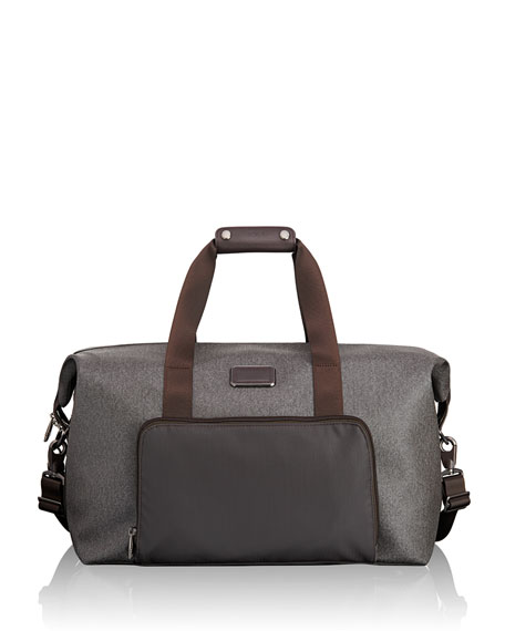 Alpha Earl Grey Double Expansion Travel Satchel