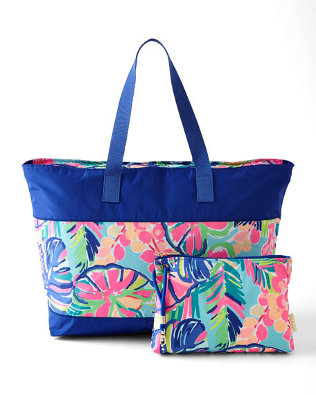 Lilly Pulitzer Exotic Garden Sail Away Beach Tote