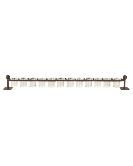 Jan Barboglio 12-Light Railroad Candleholder