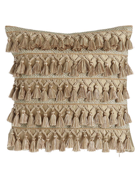 Dian Austin Couture Home Gwenneth Tassel-Front Pillow, 16
