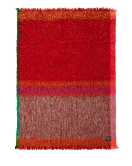 Mantas Ezcary Rozco Red/Orange Mohair Throw
