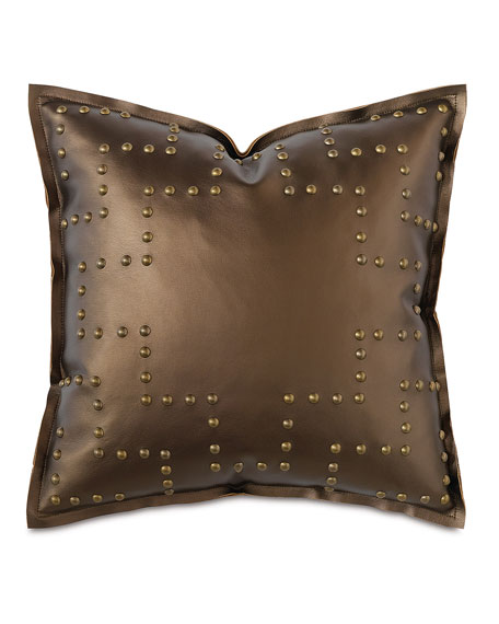 Barclay Butera Hudson Nailhead Pillow, 18