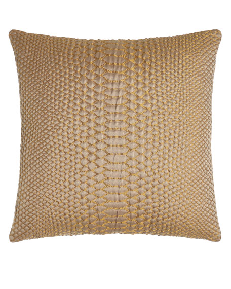 "D'Or Metallic Pillow, 20""Sq."