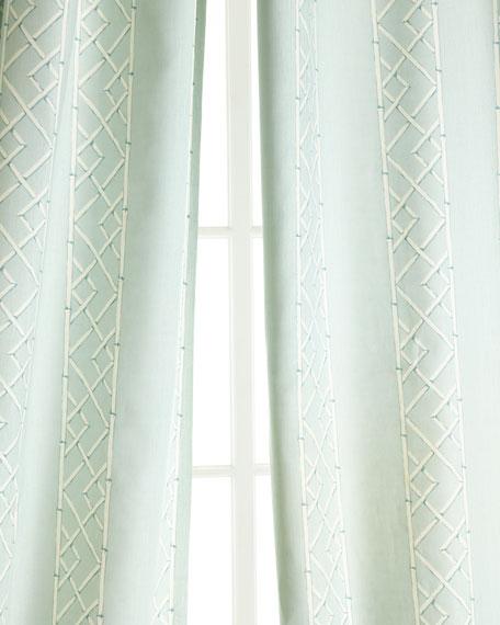 "Two 108""L Lattice Curtains"