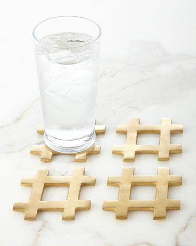 Hashtag Coasters, Set of 4