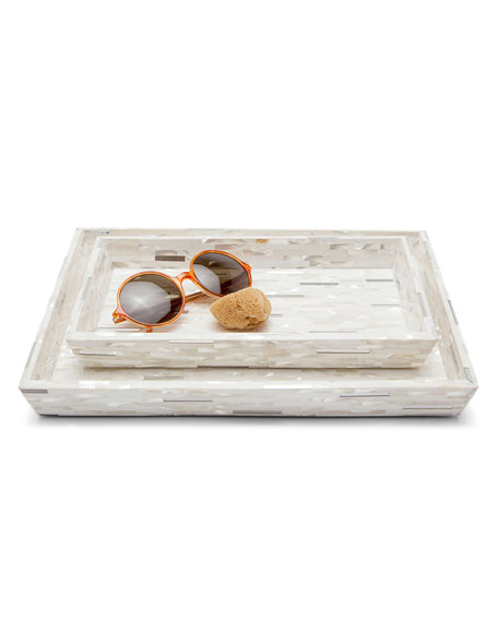 Pigeon and Poodle Cortona Vanity Trays, Set of