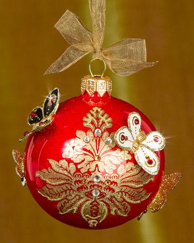 Damask Artisan Christmas Ornament