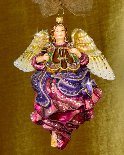 Angel with Lyre Christmas Ornament