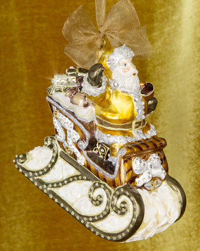 Santa Sleigh Christmas Ornament