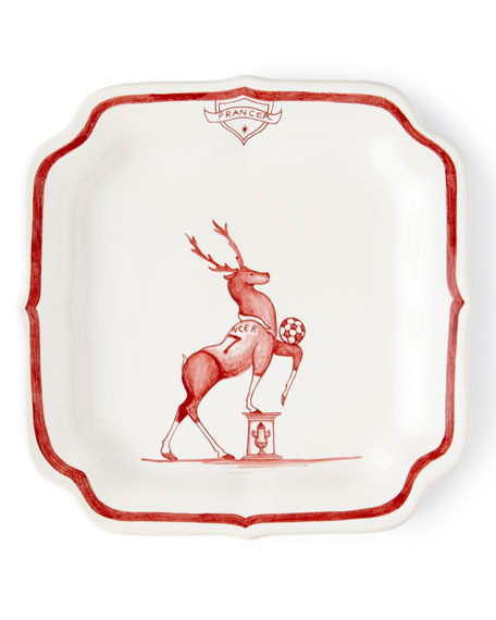 Juliska Country Estate Ruby Reindeer Games Party Plates