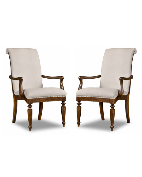 Hooker Furniture Cecile Dining Armchair, Pair