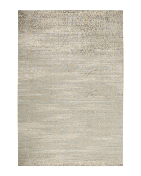 "Courtly Blue Rug, 5'3"" x 7'5"""