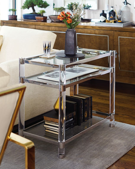 bernhardt salon stainless steel accent table neiman marcus. Black Bedroom Furniture Sets. Home Design Ideas