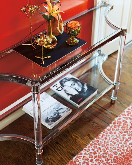 Bernhardt Salon Stainless Steel Console Table Neiman Marcus