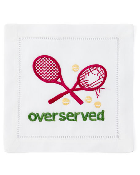 """Overserved"" Cocktail Napkins, Set of 4"