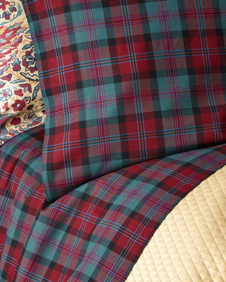 Two King Bohemian Muse Ardmore Plaid Pillowcases
