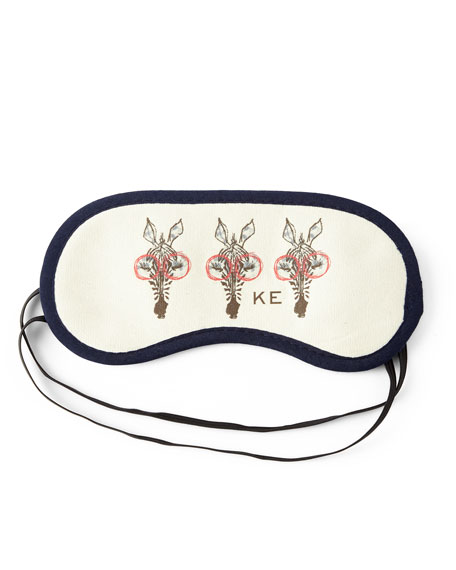 Sleeping Muffy Monogrammed Sleep Mask