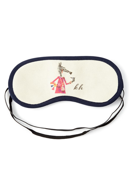 Wake for Cocktails Monogrammed Sleep Mask