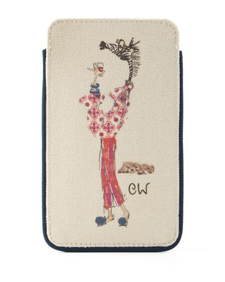 Muffy Cocktail Hour Personalized Eyeglass Case