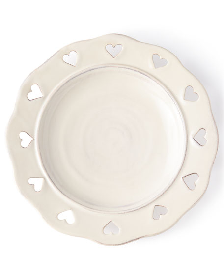 Caterina Heart Salad Plates, Set of 4