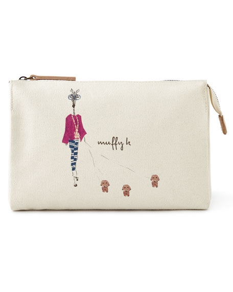 Muffy & Mortimer Large Personalized Cosmetic Bag