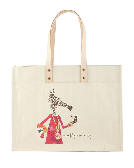 Muffy Cocktail Hour Extra-Large Personalized Tote
