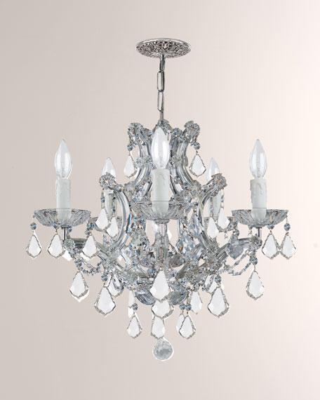 Maria Theresa 6-Light Clear Crystal Chrome Chandelier