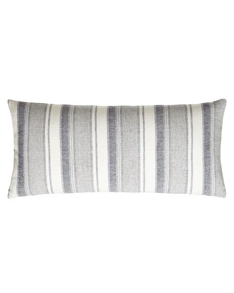 """Hampton Ticking Pillow, 15"""" x 35"""""""