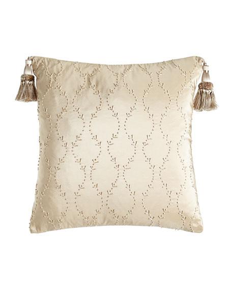 Austin Horn Classics Camelot Knotted Silk Pillow, 17