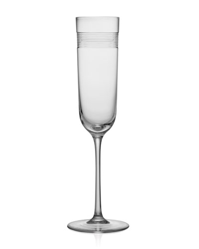 Wheat Crystal Champagne Flute Glass