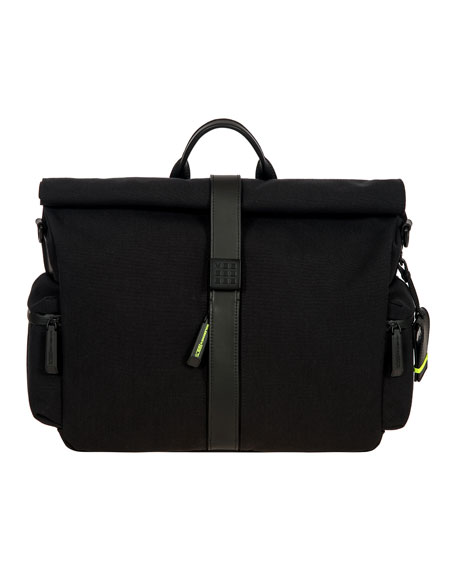 Bric's Moleskine by Bric's Roll-Top Messenger Bag