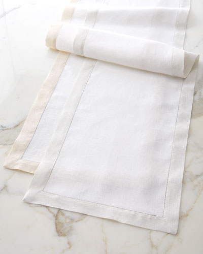 Filetto White/Silver Placemats, Set of 4