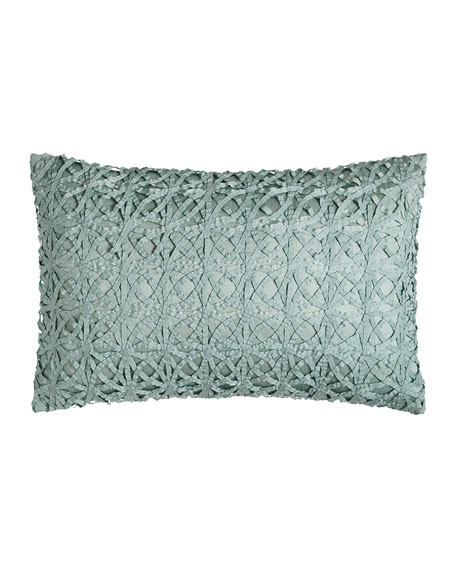 "Ribbon Mesh Pillow, 14"" x 22"""