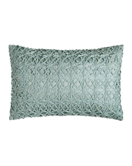 """Ribbon Mesh Pillow, 14"""" x 22"""""""
