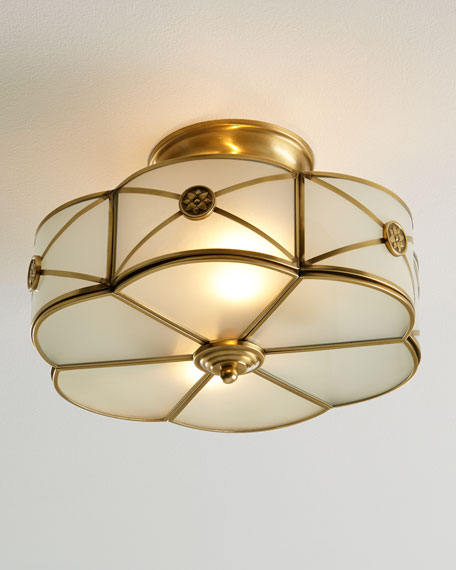 Preston 2 light semi flush mount ceiling fixture