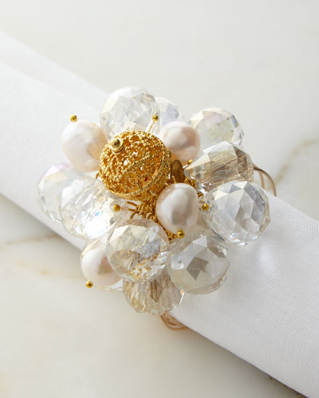 Clear Baubles Napkin Ring