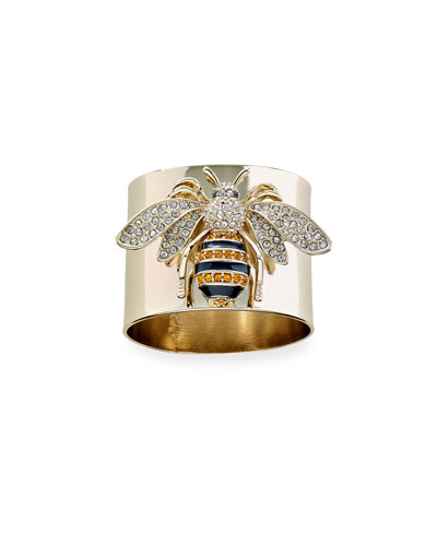 Striped Bee Napkin Rings  Set of 2