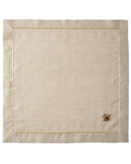 Striped Bee Dinner Napkins, Set of 2