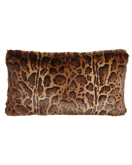 "Kilimanjaro Faux-Fur Pillow, 13"" x 25"""