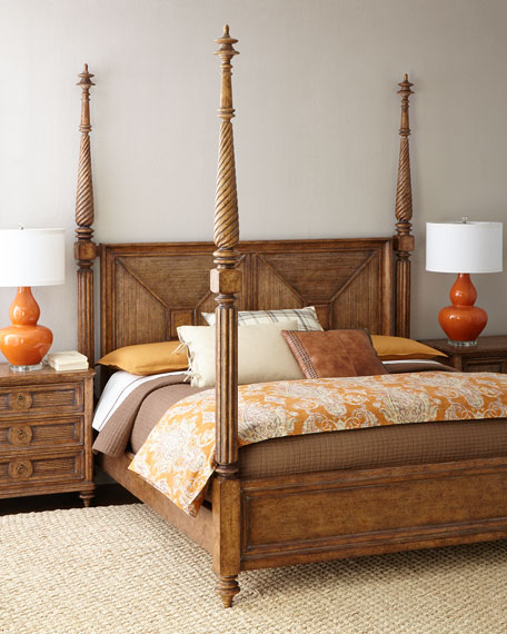 Cumberlin California King Poster Bed & Nightstand