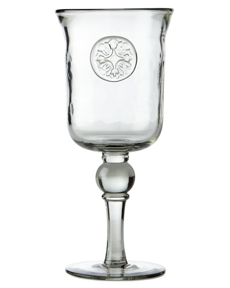 G G Collection Medallion Wine Glasses, Set of