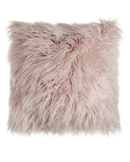 D.V. Kap Home Faux-Llama and Igneous Tourmaline Pillows