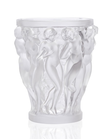 Lalique Bacchantes Small Clear Vase